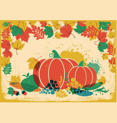 Autumn harvest festival vintage thanksgiving vector