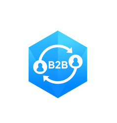 b2b commerce icon on white vector image