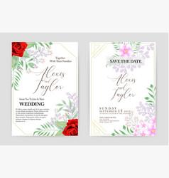 beautiful wedding and invitation card vector image