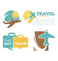 best travel agency promotional poster with planes vector image