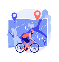 Bike paths network abstract concept vector