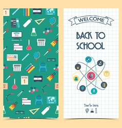 Bilateral vertical school flyer brochure banner vector image