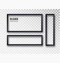 Black frames banners set plates with a vector
