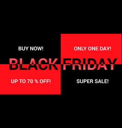 black friday advertising background vector image