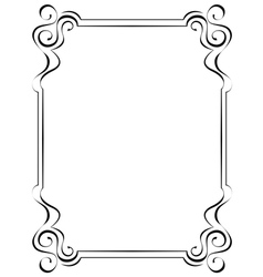 Black ornate frame on a white background vector