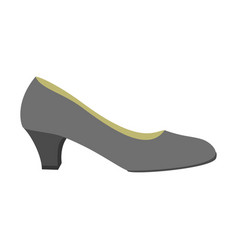 black woman shoe icon flat style vector image