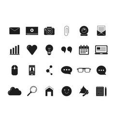 blogging symbols web icon in black style vector image