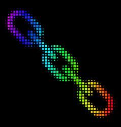 Bright pixel chain icon vector