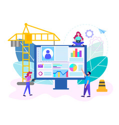 business office workers are vector image