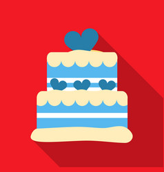 cake icon in flat style for web vector image