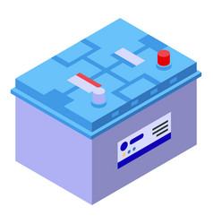 Car battery icon isometric style vector