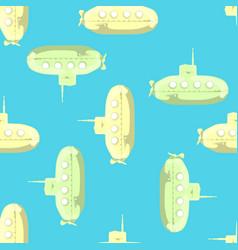 cartoon-styled submarine seamless pattern vector image