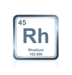chemical element rhodium from the periodic table vector image