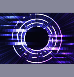 circle digital pixel abstract background vector image