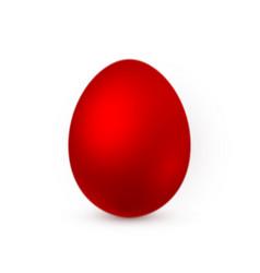 color easter egg on white background design vector image