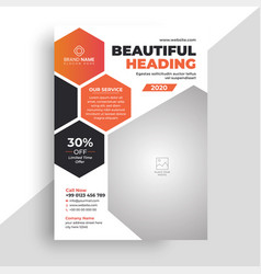 Colorful modern business corporate flyer vector