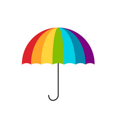 colorful umbrella for your design vector image vector image