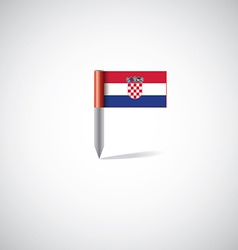 croatia flag pin vector image