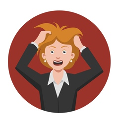 Frustrated woman vector