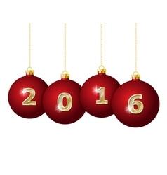 Glass Christmas Balls 2016 vector image