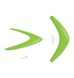 Green color boomerang vector