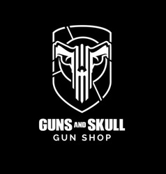 guns and skull concept vector image