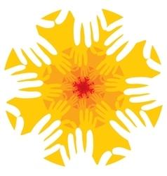 Hands fractal or mandala vector image