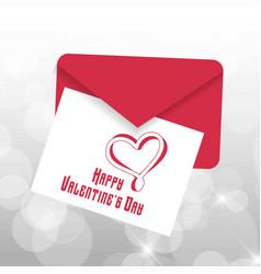 happy valentines day typographic with light vector image