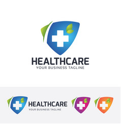 Health care logo design vector