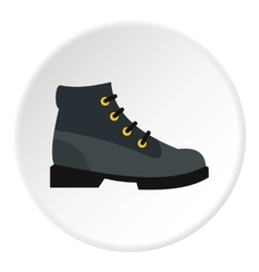 Hiking boot icon flat style vector