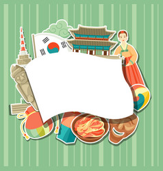 Korea background design korean traditional vector