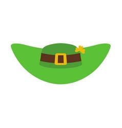 Leprechaun hat green isolated national irish vector