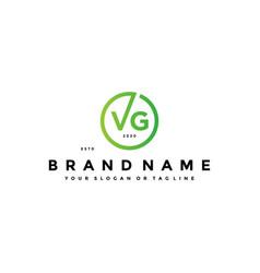 Letter vg logo design vector