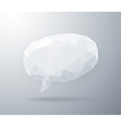 Light geometric speech bubble vector image