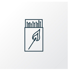Matchbox icon line symbol premium quality vector