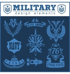 Military symbols with weapon and people uniform vector image