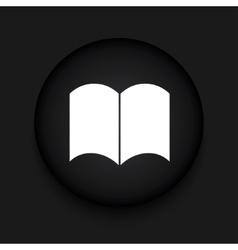 Modern book black circle icon vector