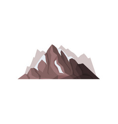 mountain peaks with snow ice tops outdoor design vector image