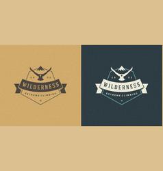 Mountains logo emblem outdoor adventure expedition vector