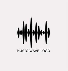 music wave logo vector image