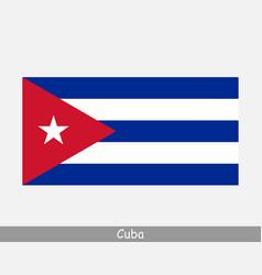 National flag cuba cuban country flag vector