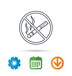 No smoking icon stop smoke sign vector