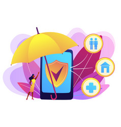 On-demand insurance concept vector