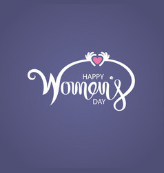 Pink happy international womens day typographical vector