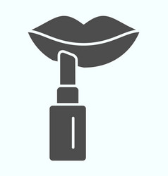 Pomade solid icon lipstick vector