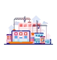 Programming Tools - flat design website banner vector image