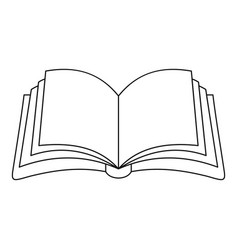 Publication in book icon outline style vector