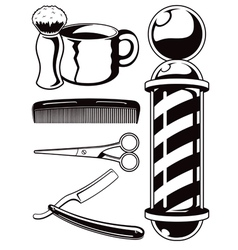 salon haircut and barbershop graphic set vector image