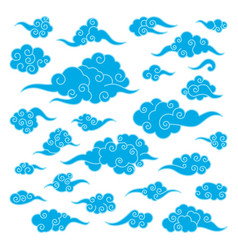 set of chinese clouds vector image