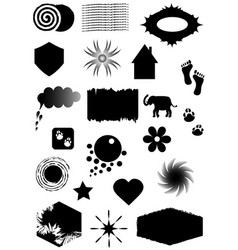 set silhouettes shapes for web vector image